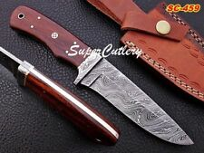 9 Inches Custom Handmade Damascus Knife with Rose Wood Handle Mosaic Pin CUSTOM