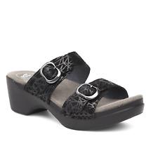 121c3a30f65f Dansko Womens Sandals Sophie Drizzle Suede Black Size EU 37