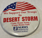 Original Metal-Operation Desert Storm Pin/Badge/Button - 'We Support Our Troops'