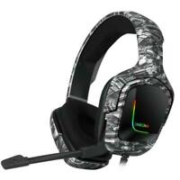 ONIKUMA K20 Advanced 4D Gaming Headset with 7.1 Surround Sound & Microphone