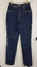 Lawman Western Jeans Juniors Vtg Relaxed Fit Autry Style Peep Hole Side NWT 3/4