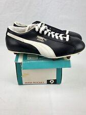 Vintage Puma Rocket Cleats Shoes Size 9 Black White Nos 91450 Puma Football
