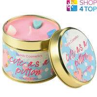 CUTE AS A BUTTON TINNED CANDLE TIN BOMB COSMETICS FLORAL SCENTED NEW