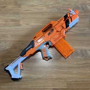 NERF N-Strike Elite Accustrike Stratohawk Motorized Dart Gun Orange RARE