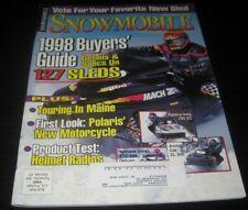 Vintage Snowmobile Magazine polaris yamaha ski doo Kawasaki arctic cat 1997