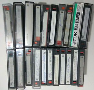 8mm video cassette tapes x 20 + tape head cleaning cassette
