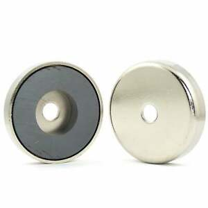 50mm dia x 10.5mm with 8.5mm hole  Ferrite pot magnet (ONE MAGNET) 18kg pull