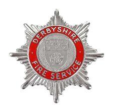 More details for derbyshire fire service firemans enamel cap badge