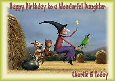 Personalizzato Compleanno Carta stanza SULLA SCOPA nipote figlio figlia grandaughte un