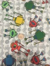 Colourful Robots Cogs Gears 100% Craft Cotton Company Quilting Fabric