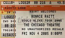 Bonnie Raitt Genuine Used Concert Ticket Stub