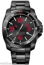 Tommy Hilfiger Men's Sport Black Ionized Plated Case and Bracelet Watch 1790770