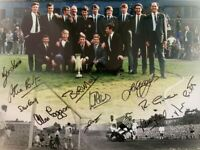 Multi Signed Newcastle United 1969 Fairs Cup Autograph Photo Montage + Proof