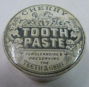 "uralte  Keramikdose  "" Cherry Tooth Paste "" England"