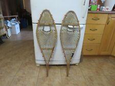 vintage snowshoes 11 x 36 chalet decor nice # 3256