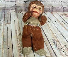 Antique Monkey Plush Scary Falling Apart Vintage Stuffed Animal Toy Unique
