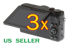 3x Canon PowerShot G7X Camera Clear LCD Screen Protector Guard Shield Film