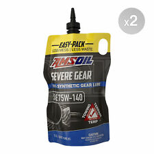 Amsoil Synthetic SEVERE Gear Oil 75w-140 Easy-Pack - 2 x 1 Quart (1.89L)