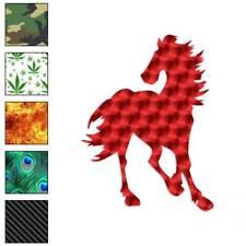 Horse Stallion Gallop Decal Sticker Choose Pattern + Size #1349
