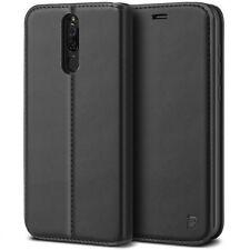 Custodia per Huawei Mate 10 Lite Portafoglio BEZ Simil Pelle Porta Carta Nero
