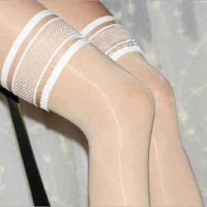 8D Oil Shiny High Glossy Hosiery Nylon Hold Up Socks Tights Thigh High Stockings