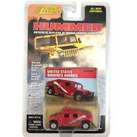 Johnny Lightning Hummer United States Marines Humvee Red Die Cast 1/64 Scale