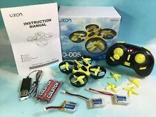 New Luxon D-005 Mini Quadcopter Drone Headless Mode RTF 3 Battery Bundle Yellow