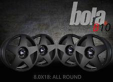 18 inch BOLA B10 4x100 ET30-45 8J BLACK alloy wheels  Alpina 3 SERIES B3 E30 Alp