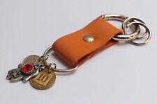 HAMSA Leather keychain with SWAROVSKI crystal element hand fatima chamsa coin