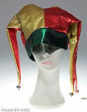 Jester Hat Gold Red & Green Lame' Mardi Gras Renaissance 3 Point Jester Hat
