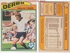 350 COLIN TODD # ENGLAND DERBY COUNTY.FC CARD PREMIER LEAGUE TOPPS 1978