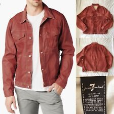 7 For All Mankind - Ecru Selvage Jean Jacket Passion Red XXL
