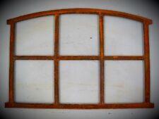 Barn Window Cast Iron Mirror Rusty Antique Decor Grille House + Yard