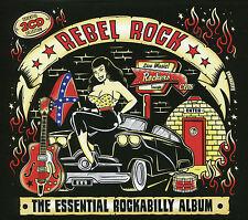REBEL ROCK THE ESSENTIAL ROCKABILLY ALBUM - 2 CD BOX SET - SKINNY JIM & MORE