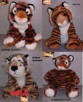 Choose Your Tiger Plush: Aurora, Animal Planet OR Rainforest Cafe
