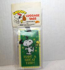 Vintage Snoopy Peanuts Luggage Tag NIP Empire pencil co Aviva