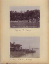 Bretagne Dinard Matignon France 4 Photos amateur Vacances Vintage citrate 1903