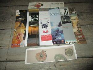 Marque pages collectors-Lot de 8-Musée,expo,antique,moderne...