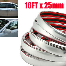 16ft 25mm Car Chrome Decorative Edge Styling Tape Moulding Trim Strip Protector