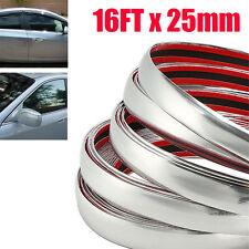 25mm 5M Car Chrome Decorative Edge Styling Tape Moulding Trim Strip Protector