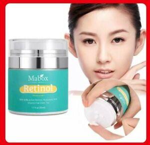 Mabox  Face Cream Retinol Moisturizer  Vitamin E Collagen Retin Anti Aging Serum