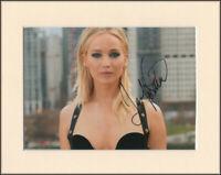Jennifer Lawrence Hunger Games Original Signed Mounted 10x8 Autograph Photo COA