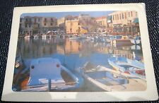 Greece typical harbour scene - posted 1987