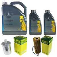 Inspektionspaket 7L Mercedes Öl 229.5 5W40+ MANN Filterpaket 11132050