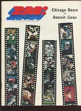 October 25 1970 NFL Football Program Detroit Lions at Chicago Bears EX+