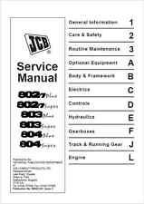 JCB 802.7, 803, 804 Super & Plus Mini Excavator Service Manual (B73)