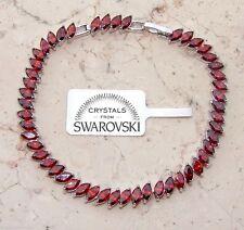 Bracciale tennis oro bianco 18k donna,braccialetto cristalli classico SW58 Rosso