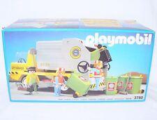 Playmobil System CITY SERVICE GARBAGE TRUCK + 3 Klicky Set 3780 MISB`91 RARE!