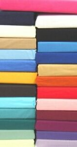 New Plain Dyed Luxury Base Valance Fitted Sheet  Single Double King or S.King