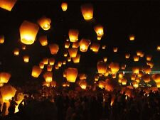 6 Sky Lantern Fireworks White